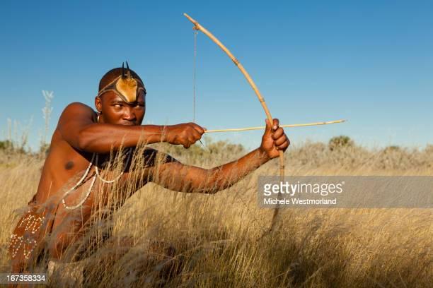Bushman of Kalahari Desert, Africa.