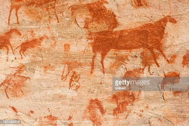 Buschmann Felszeichnung oder Höhlenmalerei