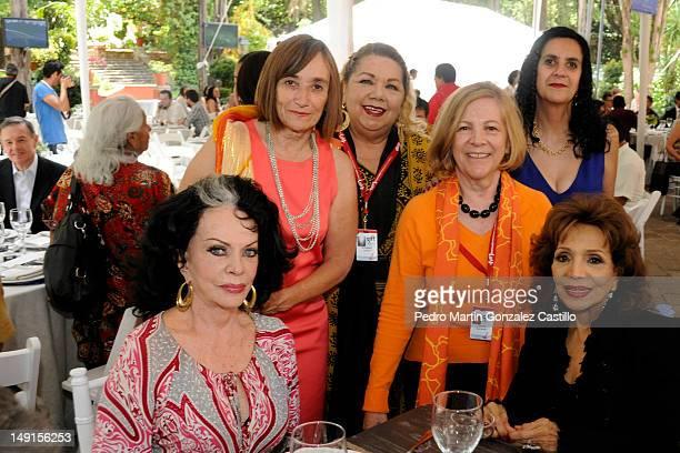 Busi Cortes Normahilda Cstañares Mirna Diaz Infante Catherine Bloch Yolanda Yvonne Montes Farrington ' Tongolele' and María Victoria pose for a...