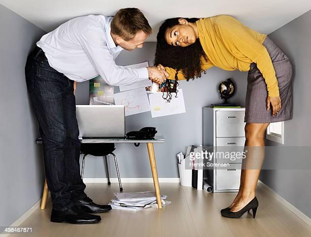 Businees people meeting in small office