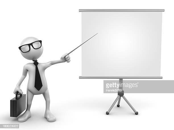 Presentación de negocios, aislado con trazado de recorte