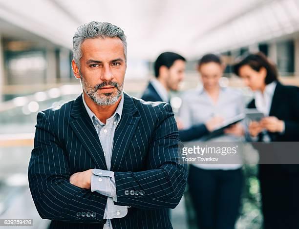 Businesman at a meeting