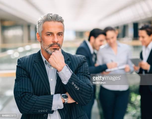 Businesman tijdens een vergadering
