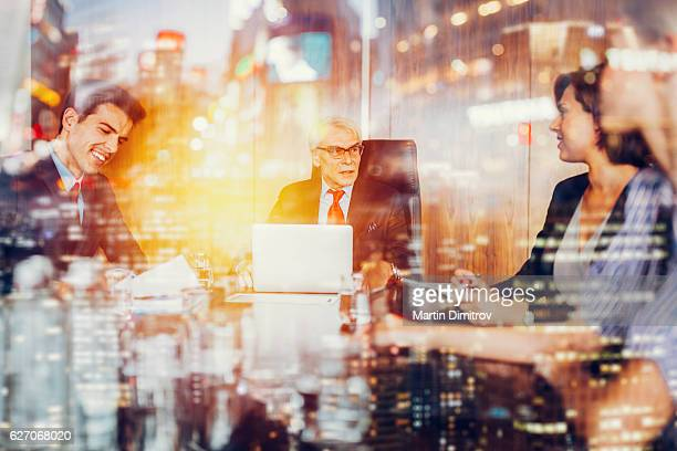 Business abstract concept of business meeting