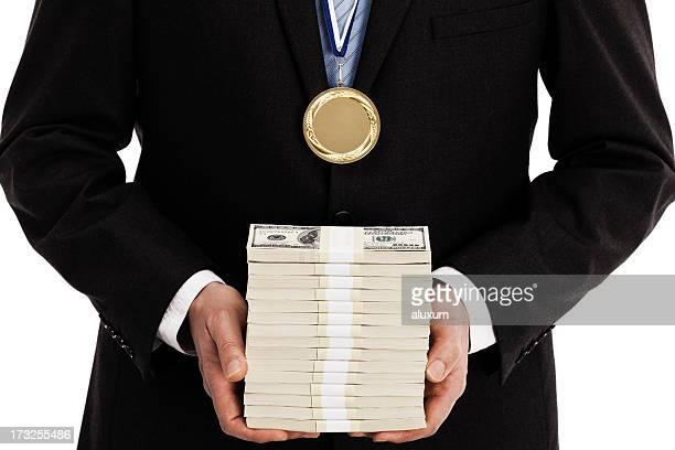 conquista de negócios - medalhista - fotografias e filmes do acervo