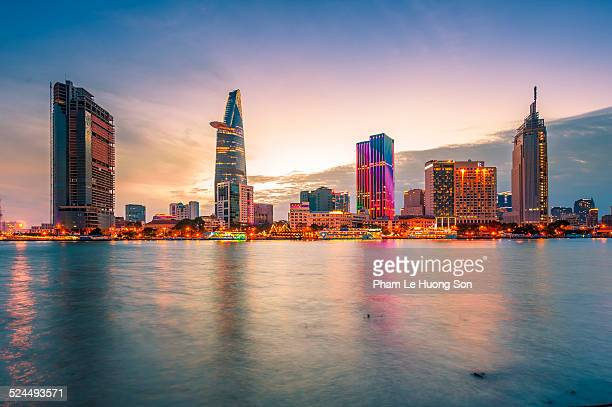 business and administrative district of saigon - ho chi minh city stock pictures, royalty-free photos & images