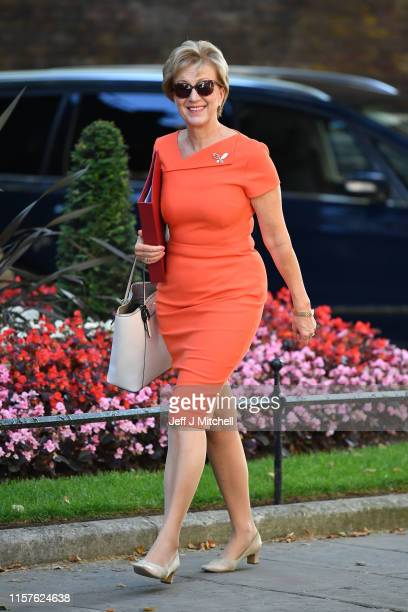 Business and Energy Secretary Andrea Leadsom arrives at 10 Downing Street on July 25 2019 in London England Britain's New Prime Minister Boris...