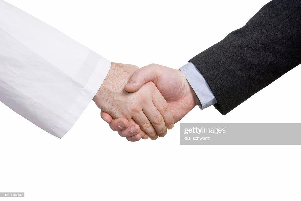 ビジネスシーンでの握手など医療...