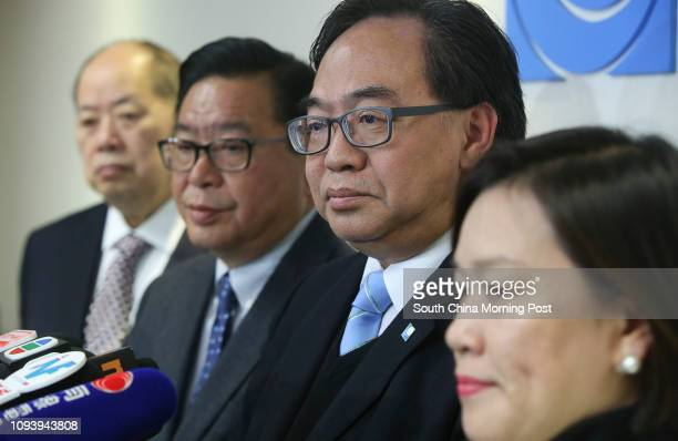 Business and Professionals Alliance for Hong Kong leaders Christopher Cheung Wahfung Jeffrey Lam Kinfung Lo Waikwok and Priscilla Leung Meifun meet...