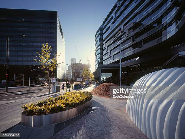 Business and residential district in Melbourne