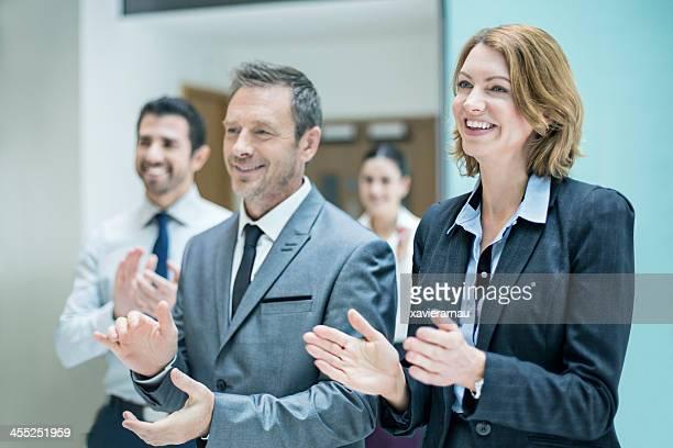 Business Applaudieren Erfolg