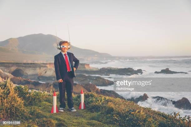 Business Boy Launching Rockets in California