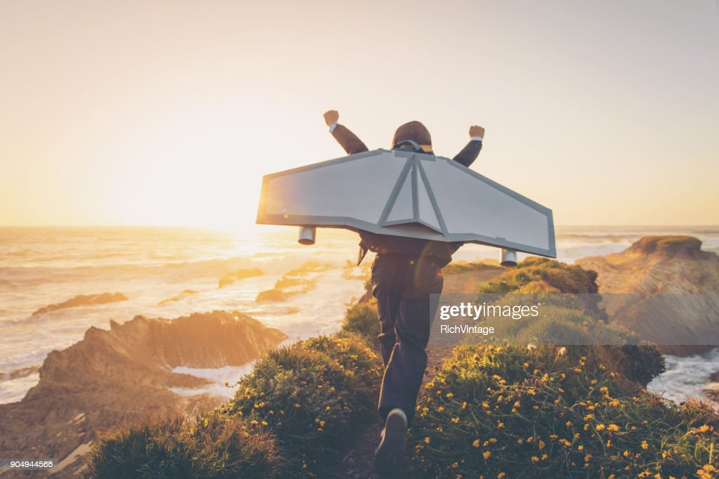 Business Boy with Jet Pack in California : Stock Photo