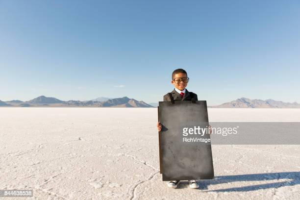 Business Boy with Sandwich Message Board