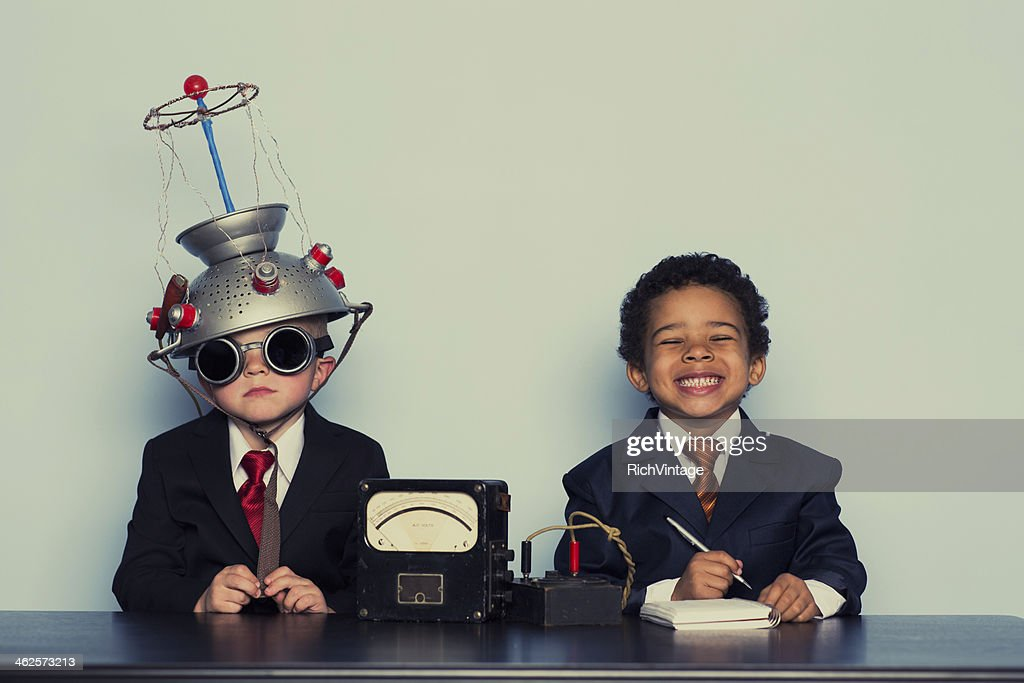Business Boys Conduct Interview in Office : Stock Photo