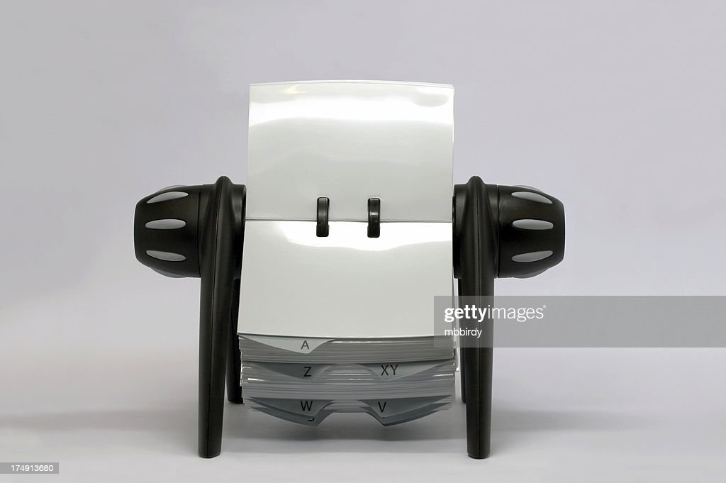 Business Card Holder Rolodex Isolated Stock Photo | Getty Images