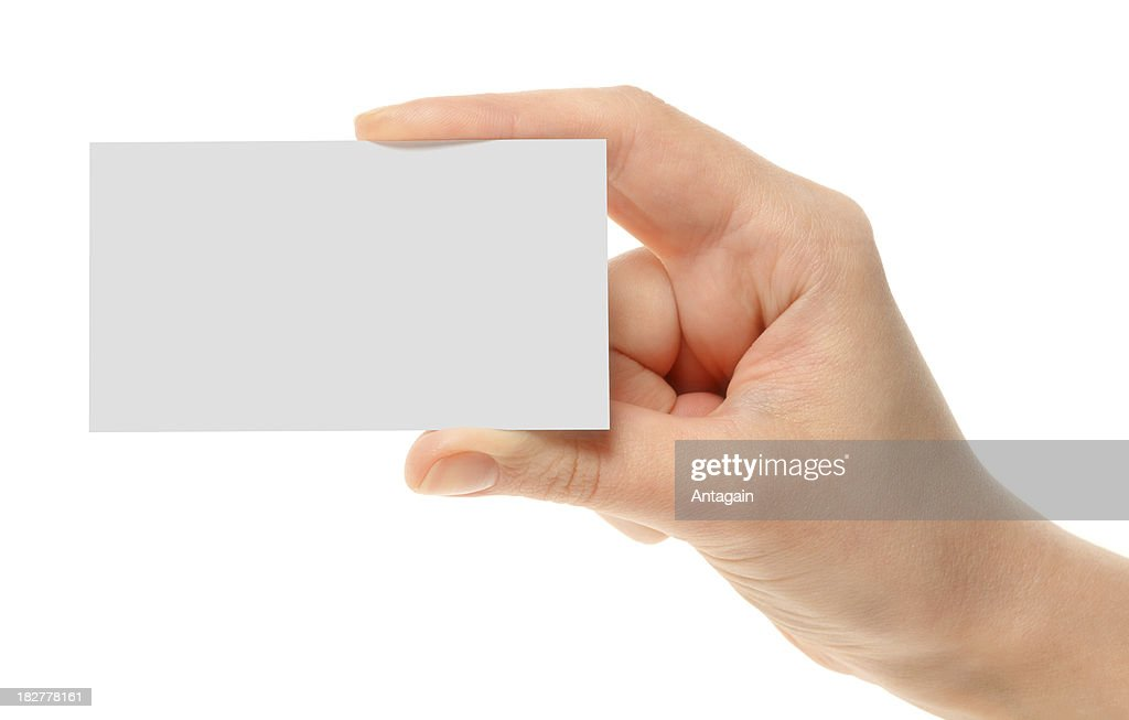 Business Card In Hand Stock Photo | Getty Images