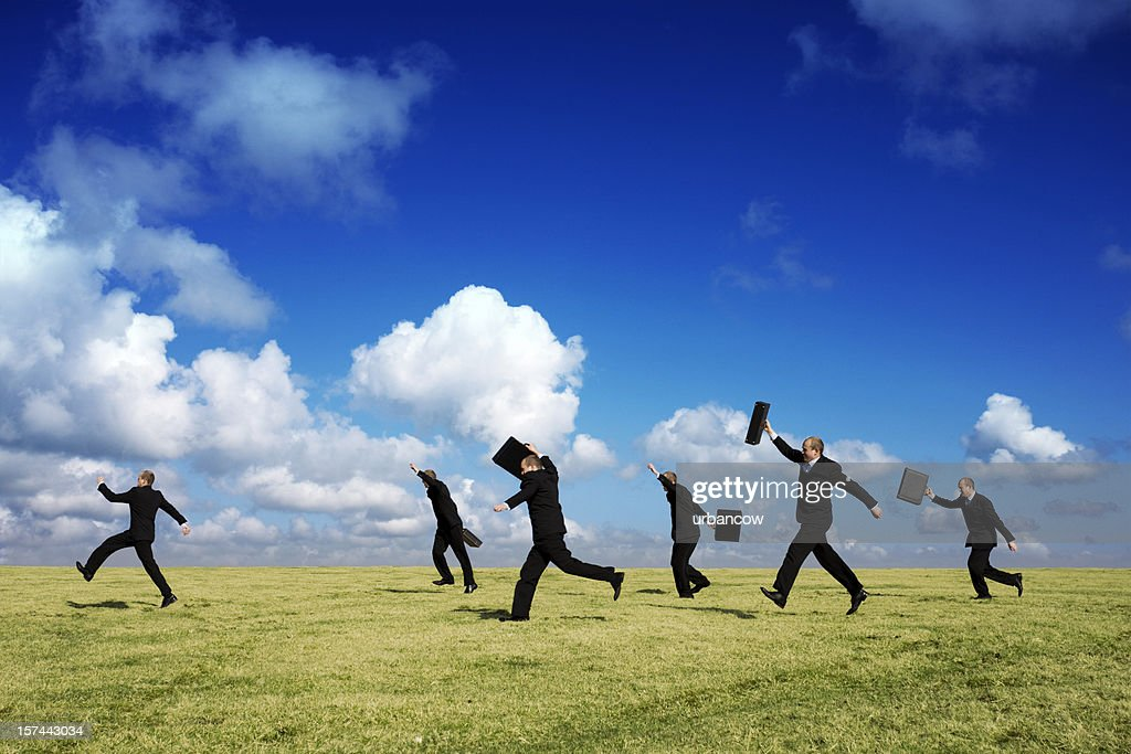 Business chase : Stock Photo