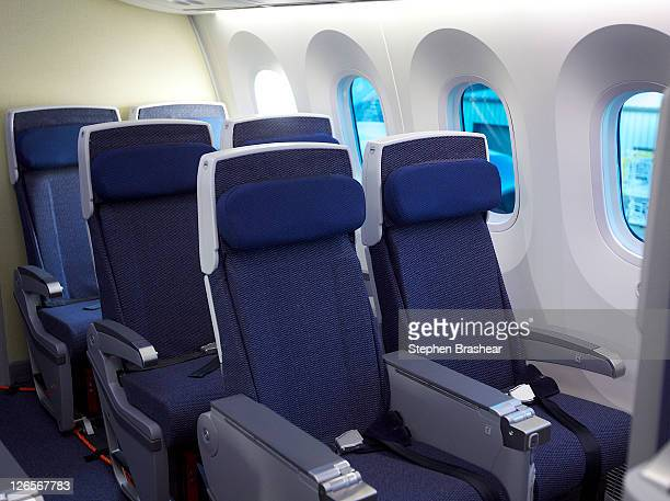 Business class seats on a Boeing 787 Dreamliner owned by All Nippon Airways September 25 2011 in Everett Washington Boeing delivered its longawaited...