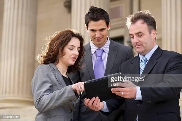 business colleagues al fresco