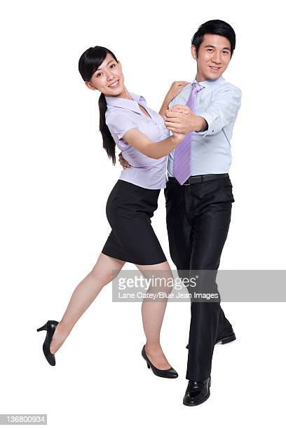 Business Colleagues Dancing Together