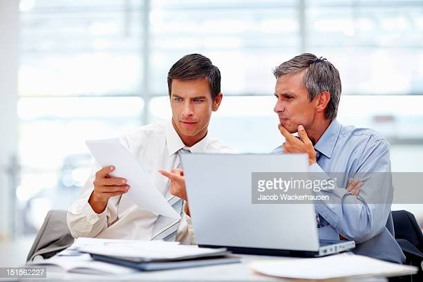 Business colleagues discussing on a project