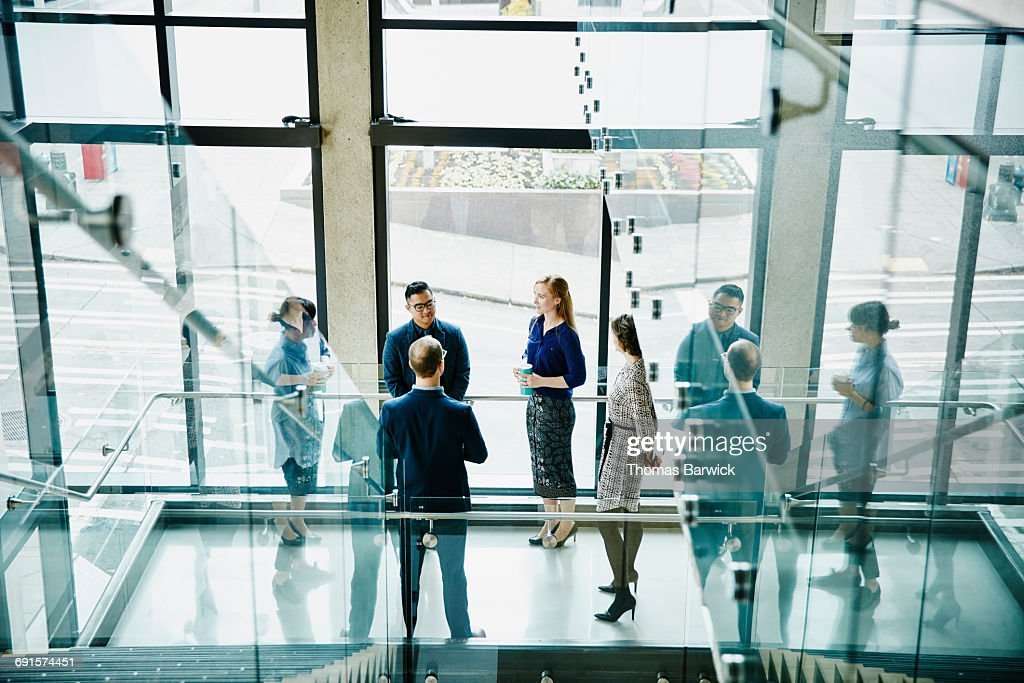 Business colleagues having informal meeting : Stock Photo