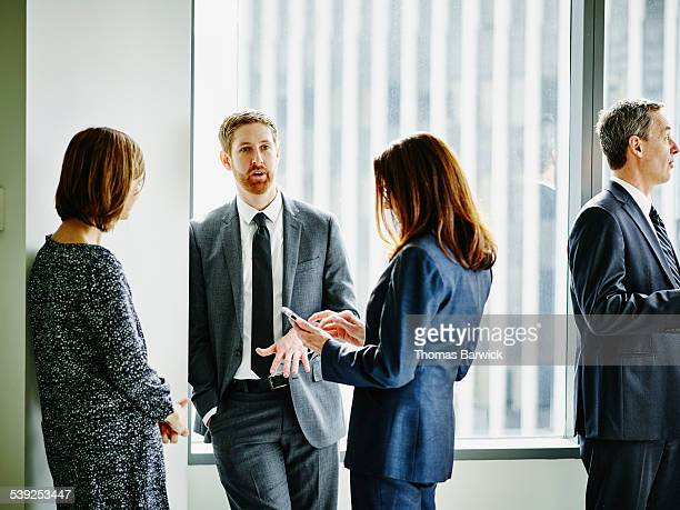 Business colleagues in discussion in office