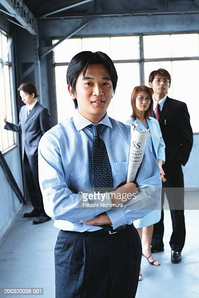 Business colleagues standing