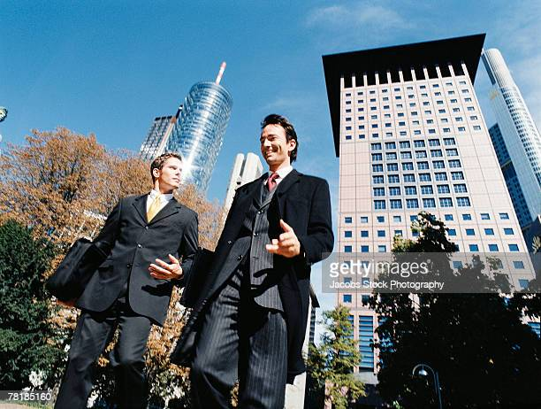 Business colleagues walking