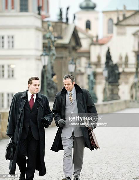 Business colleagues walking together