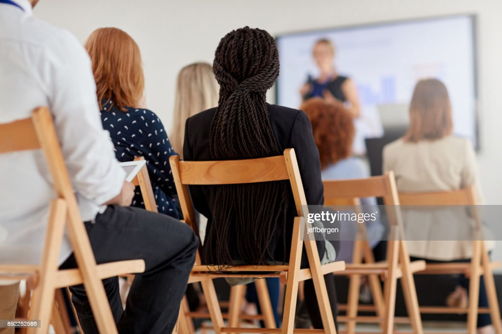 Business conference in session : Stock Photo