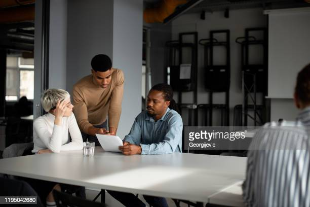 business consultations - georgijevic coworking consultation stock pictures, royalty-free photos & images