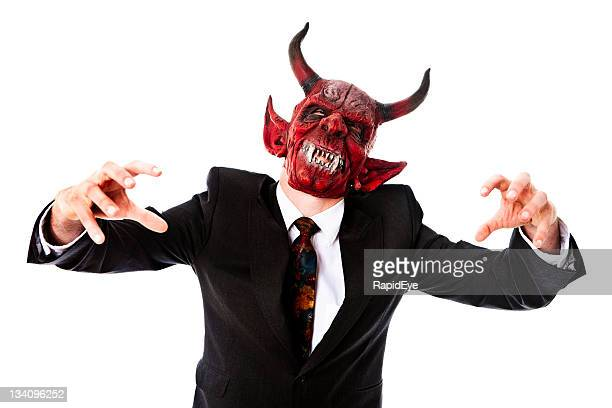 business demon - devil costume stockfoto's en -beelden