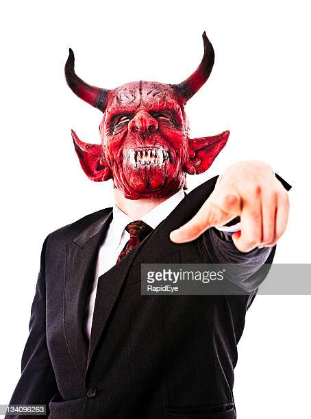 business demon - devil costume stock photos and pictures