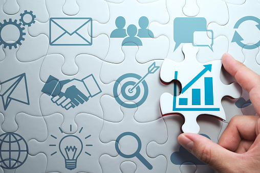Business development concept. Finding solution to growth. 1147449046