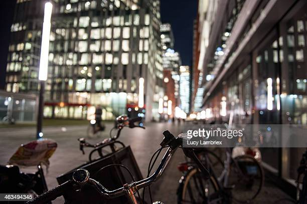 Business district Amsterdam Zuidas, bikes