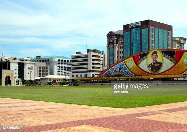business district, bandar seri begawan, brunei darussalam - bandar seri begawan stock photos and pictures