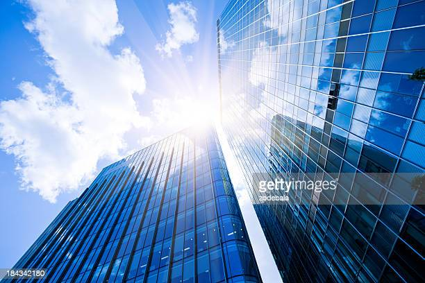 business district, corporate buildings in london - skyscraper stock pictures, royalty-free photos & images