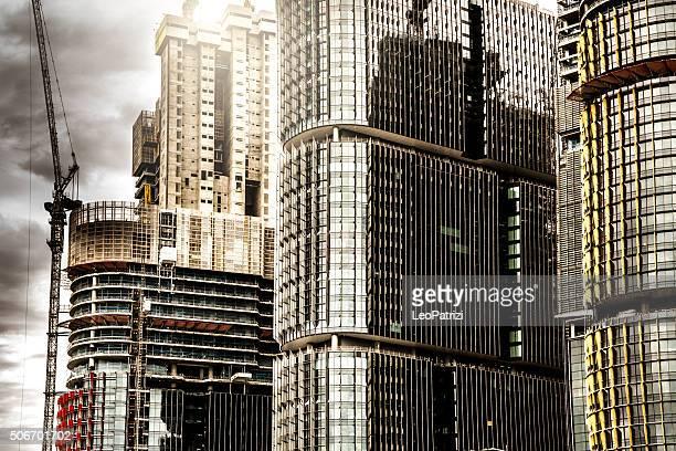 新しいビジネス街、シドニーの摩天楼