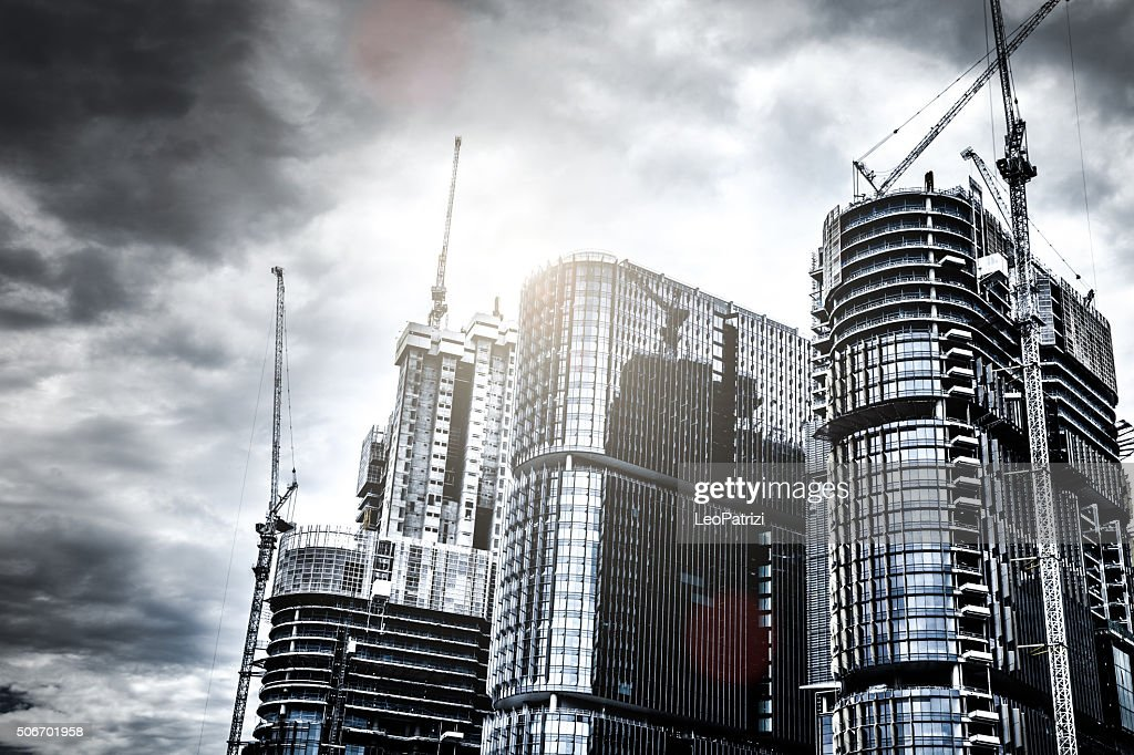 Business district new skyscrapers in Sydney : Stock Photo