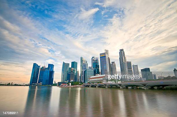 Business district with Marina Bay