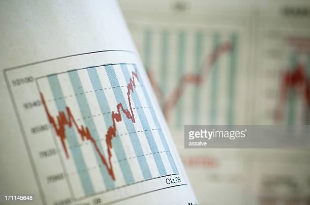 Económica gráfico gráfico de negocios