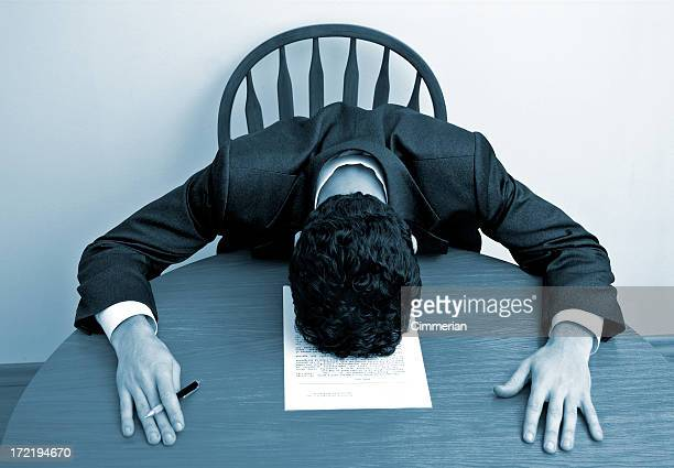 ビジネス感情-疲労感 - 敗北 ストックフォトと画像