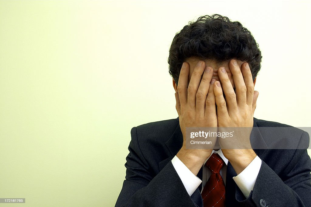 Business emotions - Trouble : Stock Photo