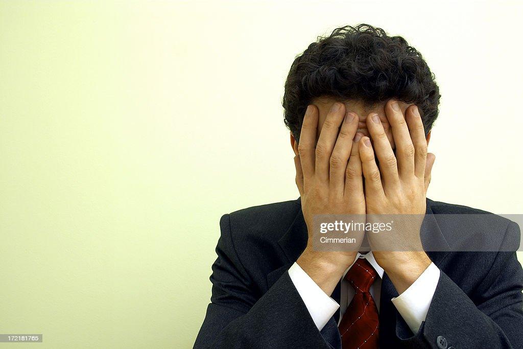 Emociones-Dificultades para negocios : Foto de stock