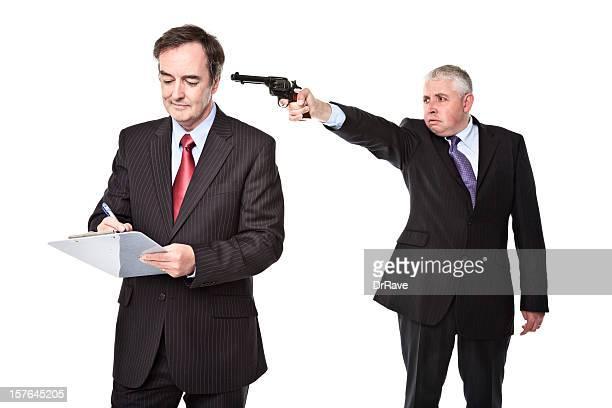 Empregado de negócios seu colega/Chefe