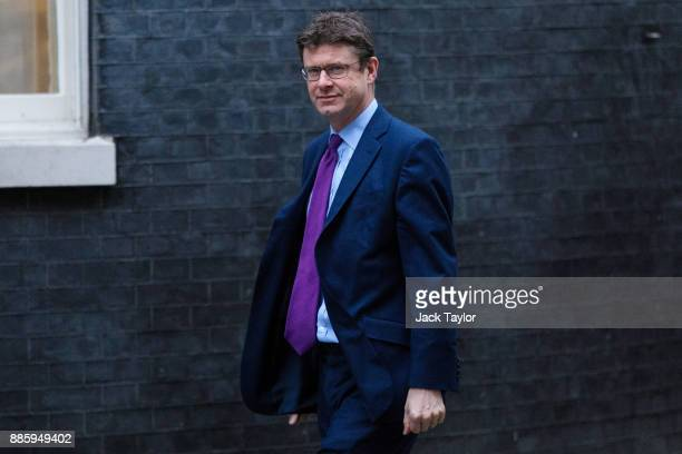 Business Energy and Industrial Strategy Secretary Greg Clark arrives for the weekly cabinet meeting at Downing Street on December 5 2017 in London...