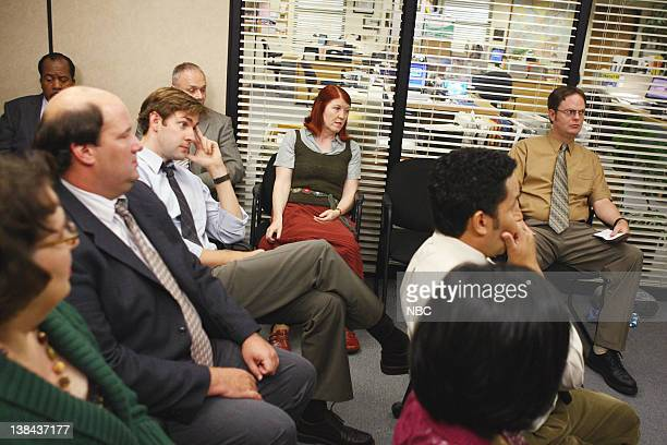 THE OFFICE Business Ethics Episode 2 Pictured Brian Baumgartner as Kevin Malone John Krasinski as Jim Halpert Kate Flannery as Meredith Palmer Rainn...