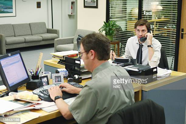 THE OFFICE Business Ethics Episode 2 Pictured Rainn Wilson as Dwight Schrute John Krasinski as Jim Halpert